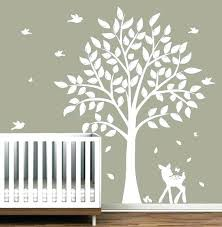 tree wall decal white nursery decals birds decor with canada tree wall decal