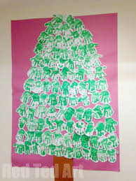 Each Student Gets A Triangle To Decorate With Scraps And Then The Classroom Christmas Tree