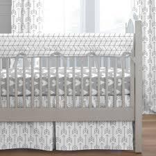 silver gray arrow crib bedding