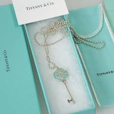 tiffany knot key pendant with necklace