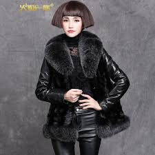 get ations firefox family leather leather girls long section 2016 new mink fight mink fur coat fur a