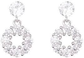 Earring Exquisite Flash Diamond Circle Simple Earrings <b>S925 Silver</b> ...