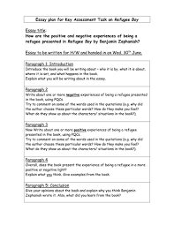 essay plan for refugee boy by temperance teaching resources tes