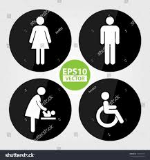 bathroom sign with arrow. Toilet Images On Pinterest Restroom Vector Shutterstock Bathroom Sign With Arrow S Safety O