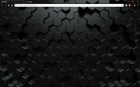 Google Wallpaper Theme Custom Dark Hexahedron Google Chrome Theme