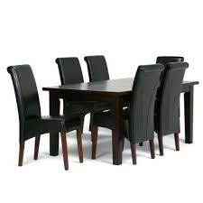 black and brown dining room sets 7 piece midnight black dining set midnight black tanners brown