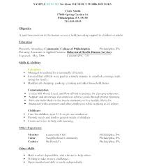 Work History Resume Browse Resume Work History Template Employment History Sample Gse 54