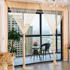 1 0x2 0m glitter string bead door curtain panels fly screen room divider voile