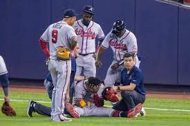 after tearing ACL vs Marlins ...