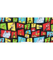 dr seuss fleece fabric 60 u0027 u0027 multi character block