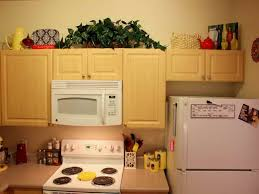 Kitchen Above Cabinet Decor How To Decorate Above Kitchen Above Cabinet Decor Greenery Iron