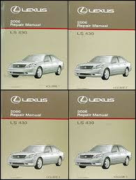 lexus ls wiring diagram manual original 2006 lexus ls 430 repair shop manual original 4 volume set 549 00