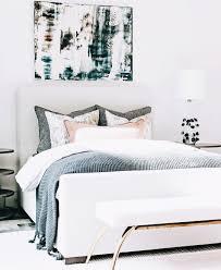 Gemälde Leinwand Bett Schlafzimmer Einrichten Interior Design