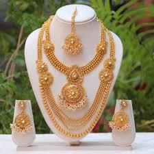 south indian traditional antique white kundan haram set
