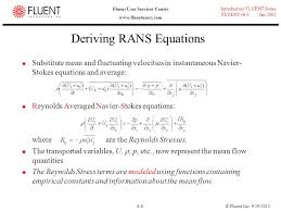 incompressible navier stokes equations derivation jennarocca 8 deriving rans equations modeling turbulent flows ppt