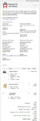 Receipt Email Template V 2 0 Emails Foxy Wiki