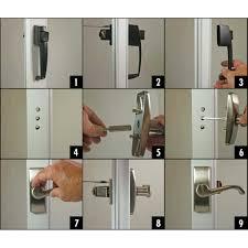 Decorating fixing screen door images : Door Handle. replace screen door handle: How To Install A Sliding ...