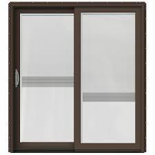 wood sliding patio doors. JELD-WEN W-2500 71.25-in X 79.5-in Blinds Between The Wood Sliding Patio Doors L