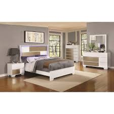 Lighted Headboard Furniture Coaster Havering Eastern King Bed With Led Lighted Headboard