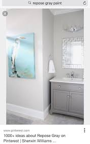 Light Gray Bathroom Wall Cabinet Repose Gray Sherman Williams Best Gray Paint Color