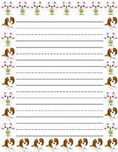 Primary Letter Writing Paper Printable Kids Writing Paper Free Writing Paper Free