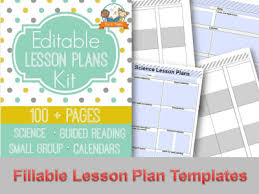 unit planner template for teachers printable lesson plans for preschool pre k and kindergarten