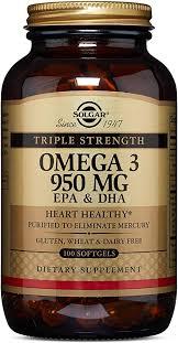 Solgar Triple Strength Omega-3 950 mg, 100 Softgels ... - Amazon.com