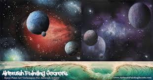 airbrush galaxies and waves