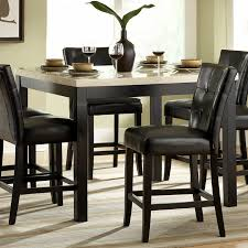 kitchen table and chairs. High Dining Room Chairs Luxury Counter Black Tufted Back Leather And Square Kitchen Table