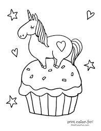 Cupcake coloring pages easy coloring pages coloring sheets for kids animal coloring pages printable coloring pages coloring books dessert design cupcake template beanie boo here are four trees for the children to colour in, illustrating their changes with the four seasons. Top 100 Magical Unicorn Coloring Pages The Ultimate Free Printable Collection Print Color Fun