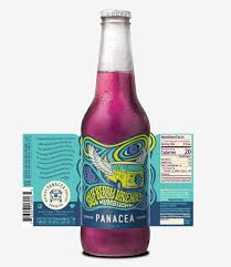 Kombucha Label Design Panacea Kombucha Branding Ebbing Branding Design
