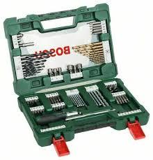 <b>Bosch 2607017195</b> Briefcase <b>V</b>-<b>Line</b> Tips and Bits Tin <b>91</b> Pieces ...