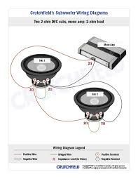 subwoofer wiring diagrams 2 dvc 2 ohm mono