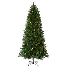 Holiday Living 7.5-ft 742-Count Pre-Lit Welch Full Artificial Christmas Tree