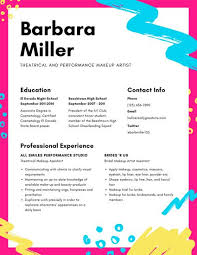 Theatre Resume Templates Custom Colorful Abstract Theatre Resume Templates By Canva