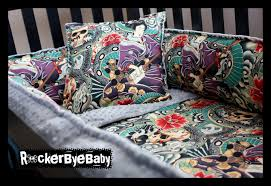 baby nursery interesting colorful skull 4 piece punk baby crib