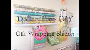 dollar tree diy gift wrapping station wall organizers easy less than 10