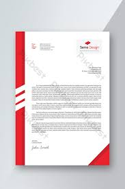 Word In Red Red Color Letterhead Psd Template With Word Doc Template