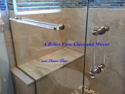 luxury overture 1 glass towel bar and glass handle installed on shower glass