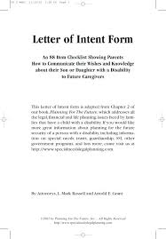 Letter Of Intent Example Sample Letter Intent Template Form ...