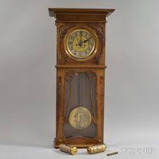gustav becker art nouveau wall clock