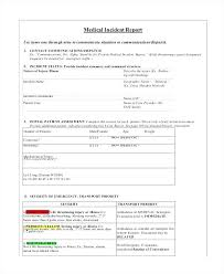 Injury Incident Report Template Classy Patient Incident Report Form Template Gocreatorco