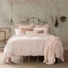 wamsutta vintage linen full queen duvet cover in blush