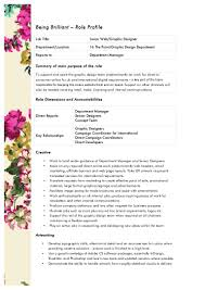 Floral Designer Job Description Role Profile Junior Web Graphic Designer