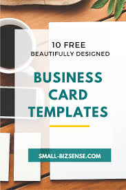 Free Card Templates 10 Beautifully Designed Free Small Business Card Templates