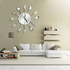 3D Wall Clock Stainless Steel Knife Fork Modern Design Large Kitchen Wall  Watch Clocks Quartz For Home Office Decor-in Wall Clocks from Home & Garden  on ...
