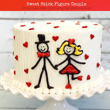 Sweet Stick Figure Couple A Free Cake Video Tutorial My Cake School