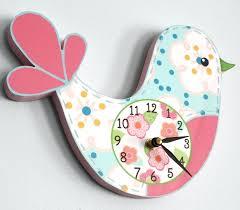 childrens wall clocks love bird wooden wall clock for girls bedroom nursery wall clocks for girls childrens wall clocks