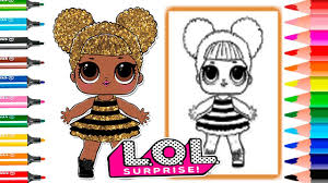 Coloring Pages Queen Lol Surprise Doll Series Glitter How To Draw