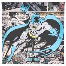 batman comic canvas wall decor hobby